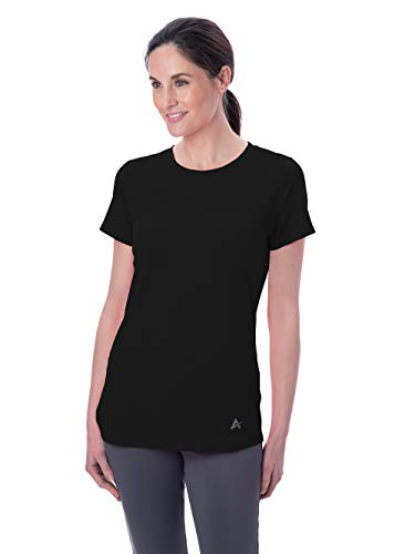 Arctic Cool Women's Crew Neck Instant Cooling Shirt with UPF 50+ Sun Protection, Cool Black, XXL