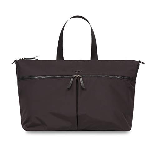 Knomo 129-801-BLK Dalston Stockholm Dames laptop tas van microvezel twee grote vakken met ritssluiting verstelbare schouderriem en grote handgrepen geschikt voor 15-inch notebook | Zwart