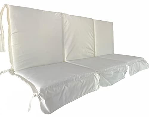 Cuscino per Dondolo 3 posti da Giardino Fodera per Altalena Antimacchia idrorepellente sfoderabile (150x94 cm)
