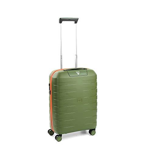 Roncato Box 2.0 Maleta Cabina avión Naranja/Verde Militar, Medida: 55 x 40 x 20 cm, Capacidad: 41 l, Pesas: 2.30 kg, Maleta Cabina avión ryanair