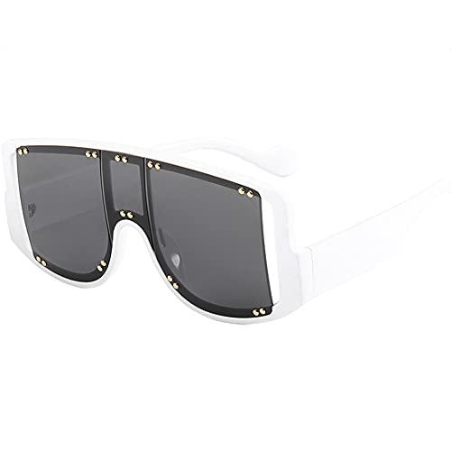 TTWLJJ Gafas de sol deportivas con protección UV400, anti rayos UV, gafas de ciclismo al aire libre, para hombres y mujeres, correr, béisbol, pesca, esquí, golf, gris