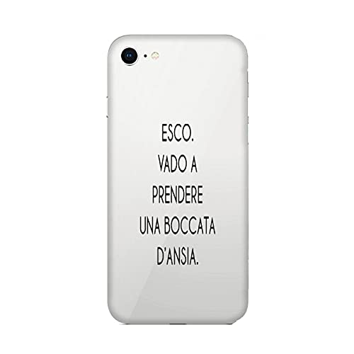 Cover Custodia Compatibile per Apple iPhone 6 Frasi Divertenti esco vado a Prendere Una boccata d'ansia/Gel in Silicone Morbido TPU/Phone Hard Snap on Anti-Slip TPU Protettivo Resistente agli Ammo