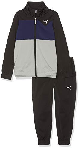 PUMA Jungen Tricot Suit I B Trainingsanzug, Black, 176