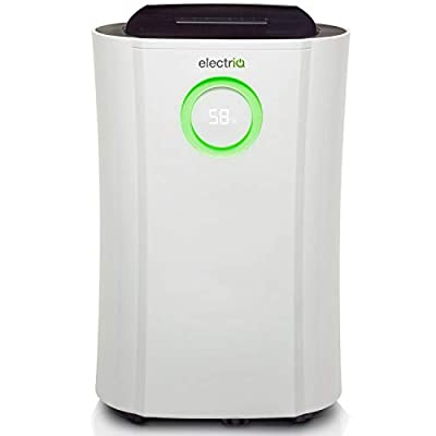 ElectriQ Portable Low Energy Dehumidifier - 20L, White, Ioniser and Humidistat 2017 WHICH Best Buy