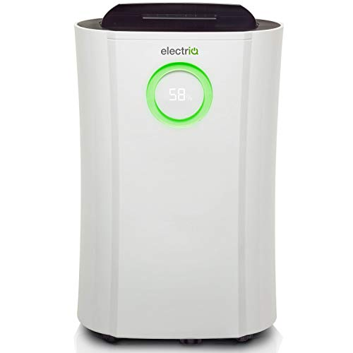 electriQ 12L Low Energy Dehumidifier. Eliminates Damp, Condensation, Mould and Mildew. Suitable for up to 3 Bed House