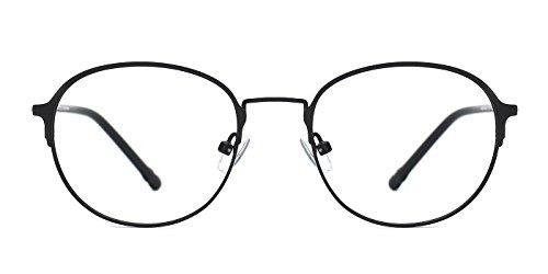 TIJN Unisex Retro Metal Throughout Prescription Eyeglasses Full Rim Frame