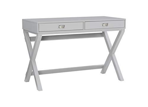 Linon Grey 2-Drawer Writing Jaycee Desk