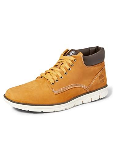 Timberland Bradstreet Leather Sensorflex, Botas Chukka para Hombre, Amarillo (Wheat Nubuck), 43 EU