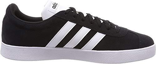 adidas Herren VL Court 2.0 Fitnessschuhe, Schwarz (Negbas/Ftwbla 000), 43 1/3 EU
