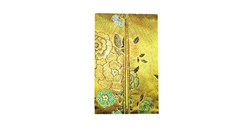 Superbe soyeux poche Papier Support Papier de soie Mini brocart cover-gold
