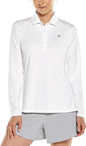 Coolibar UPF 50 + Sport UV Polo T-Shirt L Blanc