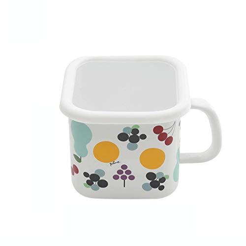 Pengfei Huishoudelijke Emaille Porselein Instant Noodle Cup Met Deksel Verwarming Noodle Bowl Grote Melk Cup Vierkant Water Cup Bento Doos Hete Melk