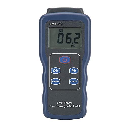 SLL Medidor de Campo magnético, 30Hz ~ 400Hz ABS medidor de Fuerza de Campo magnético portátil, para Equipos de Audio Visualización de Pantalla TV Cable de alimentación Herramienta