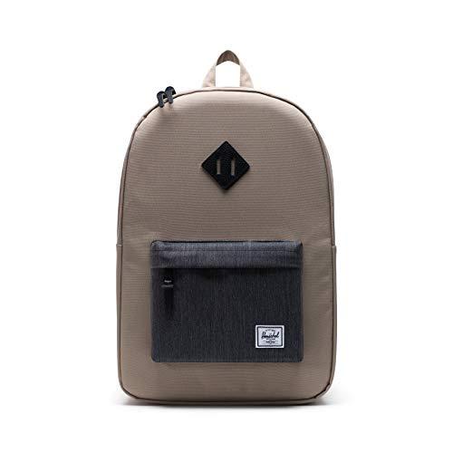 Herschel Unisex's Heritage Backpack, Timberwolf/Black Denim, Classic 21.0L