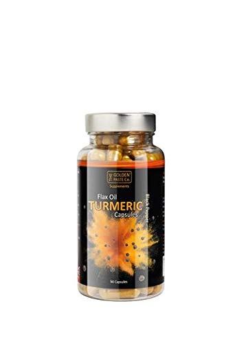 The Golden Paste Co. High Strength Turmeric Capsules Supplement - 90 Vegan Capsules
