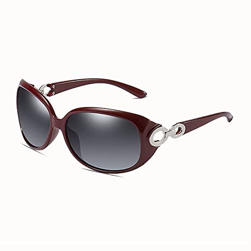 MOMAMOM Gafas De Sol Polarizadas Mujer ProteccióN UV Rectangulares Aire Libre Conducción Vintage CláSico Lentes Marco Viaje Moda Golf Elegante Excursión Red