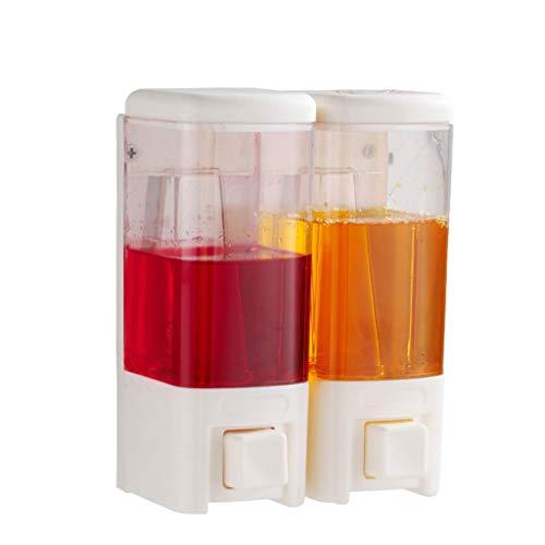 QTBH Dispensador de jabón Dispensador de loción for baño de Cocina de 480 ml de champú de Cocina Dispensador de loción de baño Liquid Soap Dispenser (Color : White, Size : 960ml-2rooms)