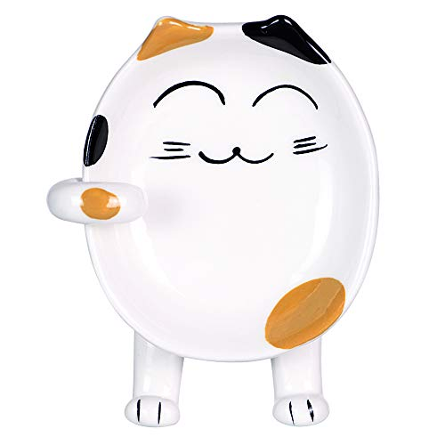 Cute Cat Spoon Rest for Kitchen, Ceramic Spoon Holder for Stove Top, Coffee Spoon Rest, Ladle Rest,...