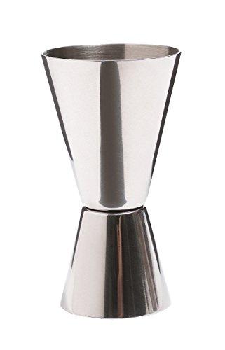 Bar Craft Medidor Doble de Bebida Jigger, Efecto Pulido, Acero inoxidable, 25 ml/50 ml