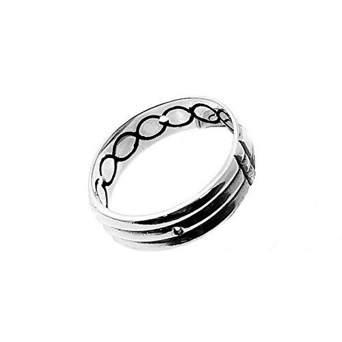 Sortija anillo plata Ley 925m Atlante 6mm. ancho unisex