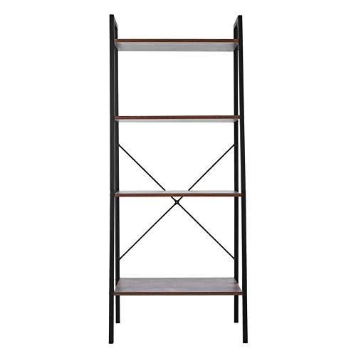 Boekenkast met 4 niveaus, ladders, boekenplanken, multifunctioneel opbergrek voor de slaapkamer in huis