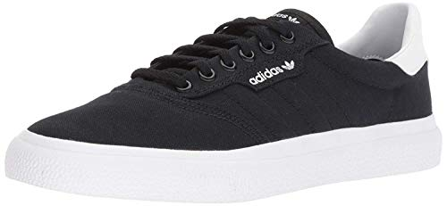 adidas Originals Men's 3MC Regular Fit Lifestyle Skate Inspired Sneakers Shoes, Black/Black/white, 10.5 M US
