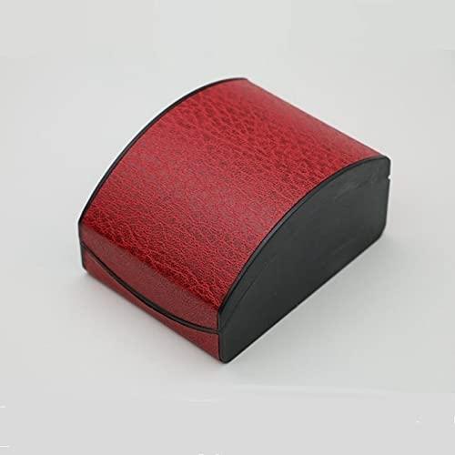 QWWR Caja de Reloj, Caja de Plástico de Cuero con Forma de Concha Curvada, Adecuado para Relojes, Horquillas, Cajas de Pulsera de Joyería,Red