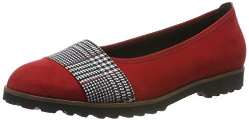 Gabor Shoes Gabor Casual, Ballerines Femme, Rouge (Cherry Kombi 45), 42 EU