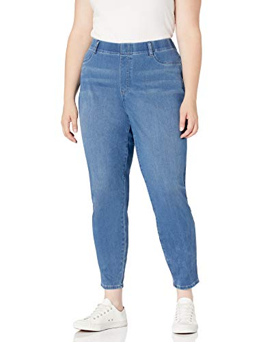 Amazon Essentials Plus Size Pull-On Knit Jegging Pants, Lavaggio Leggero, 68-70 Corto