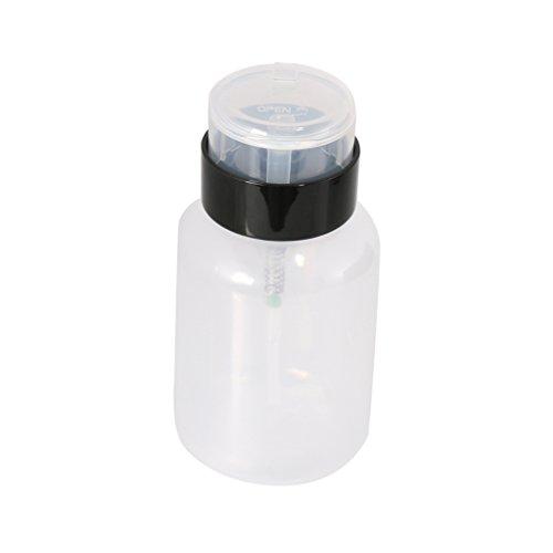Gazechimp 210ml Pompe de Presse Distributeur de Liquide Nail Art Portable Décapant Essentielle Bouteille en Plastique
