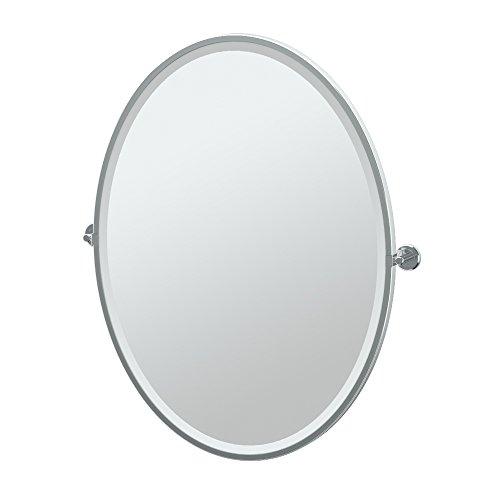 Gatco Latitude II Rectangle Mirror,, Chrome, 33 Inch, Framed -