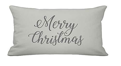 Krasilnikoff kussen CC3459G sierkussen sierkussen Kerstmis Merry Christmas grijs antraciet sierkussen Kerstmis 30x60 cm