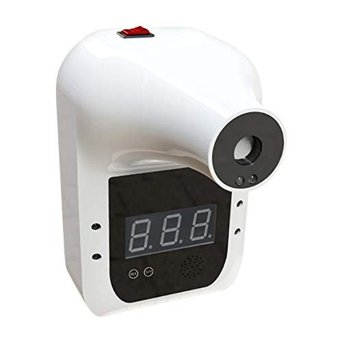 Non-brand Termómetro de Cuerpo montado en la Pared, termómetro Industrial Manos Libres escáner de Temperatura, medidor de Temperatura infrarrojo de Prueba