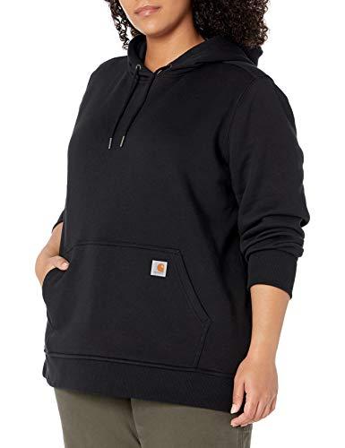 Carhartt Clarksburg Pullover Sweatshirt Sudadera con capucha, Black, Medium para Mujer