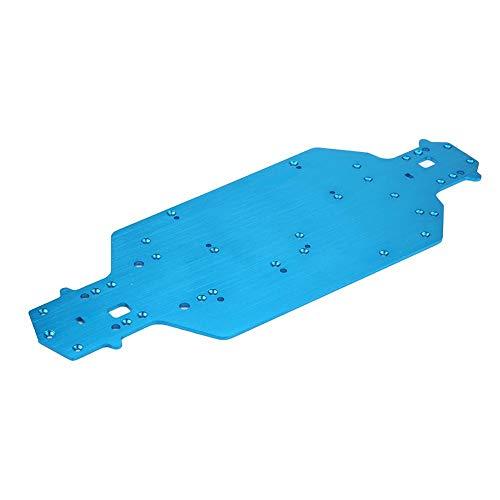 Dilwe RC Auto Metall Chassis, Aluminiumlegierung Chassis für HSP 1/10 RC Auto Fernbedienung Fahrzeug Upgrade Teil (blau)