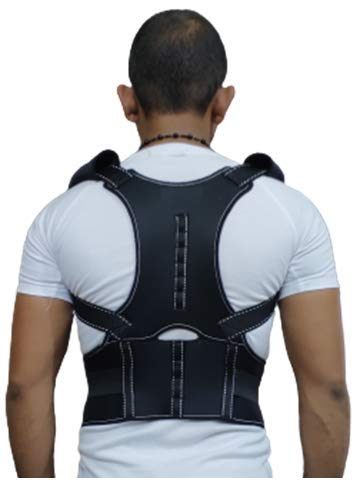 Krimus Line Magnetic back brace posture corrector belt back support belt for men & women (FREE SIZE)