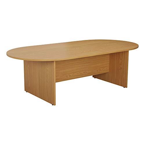 Office Hippo D-End Meeting Boardroom Table, Oak, 180 x 100 x 73 cm