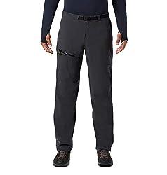 Mountain Hardwear Men's Standard Stretch Ozonic Pant, Dark Storm, Small x Regular