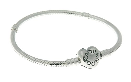 PANDORA Moments Silver Charm Bracelet with Heart Clasp 590719-23