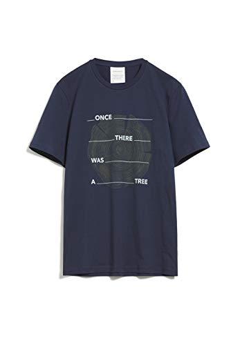 ARMEDANGELS Herren JAAMES Tree - JAAMES Tree - XL Navy Shirts T-Shirt Kurzarm