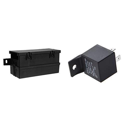 ROSELI 1 Pcs 5-Pin 12V 40A Vehicle Car Relay & 1 Set 12V Auto Waterproof Fuse Relay Box