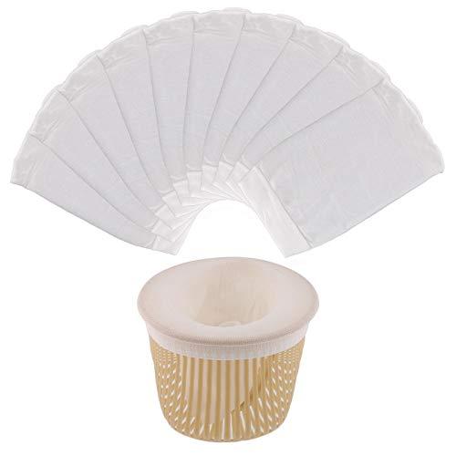 SAVITA 10 Piezas de Calcetines Skimmer para Piscina, Calcetines Blancos para Skimmer, Calcetines para Canasta de Piscina, Canasta de Filtro para Piscina