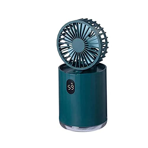 Ventilador de enfriamiento de aire de escritorio, enfriador de aire evaporativo USB, ventilador de aire acondicionado, extraíble para limpieza, 3 velocidades de viento, con función de enfriamiento y h