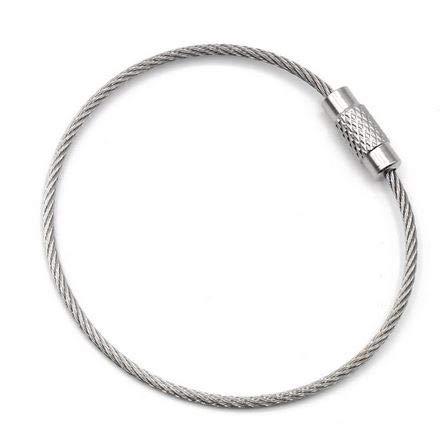 Preisvergleich Produktbild Spiraldraht Schlüssel Ring,  Premium Qualität,  Edelstahl 15cm,  10 Stück