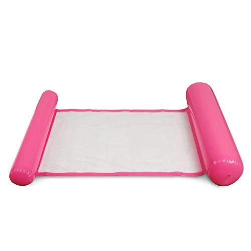 Mcottage Aufblasbar Wasser Hängematte Schwimmende Bett Lounge-Sessel Drifter Schwimmbad Strand Schwimmer für Erwachsene - Rosa