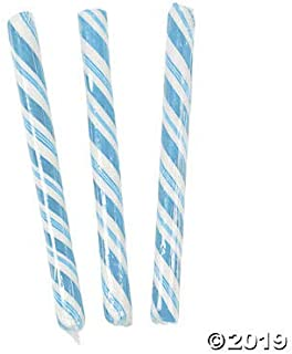 Fun Express Light Blue Candy Stick Canes - 80 Pieces (Individually Wrapped)