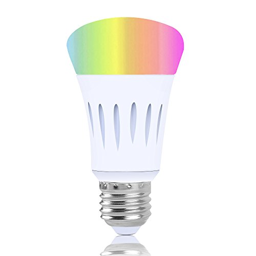Smart Led Bulb, Work with Amazon Alexa and Google Assistant, Phone Control, Color Tunable 7W A19 Wi-Fi Smart Bulb, 60W Equivalent