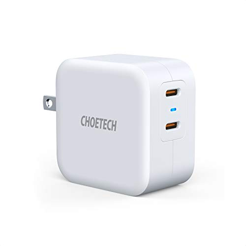 USB C Wall Charger, CHOETECH 40W Dual USB C Charger with Foldable Plug, 2-Port 20W Power Delivery 3.0 Type C Fast Charger for iPhone 12 Pro Max/mini/11/SE,Galaxy, iPad Pro, AirPods, Nintendo Switch