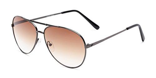 Readers.com Reading Sunglasses: The Conrad Reading Sunglasses Metal Aviator Style