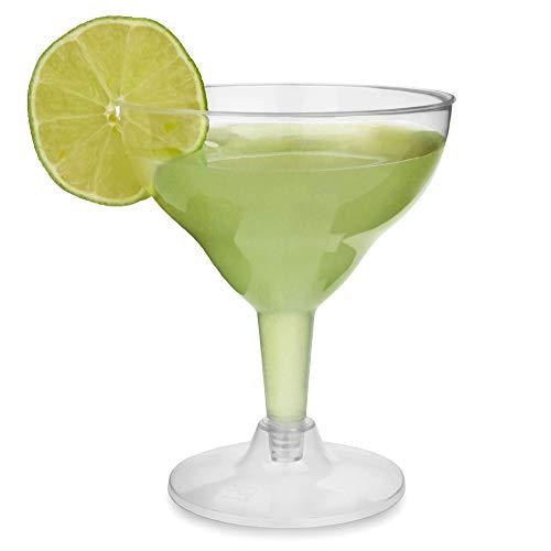 12-teiliges Wegwerf-Gläser-Set für Margarita-Cocktails/2-teilige durchsichtige Cocktailgläser aus Plastik von bar@drinkstuff